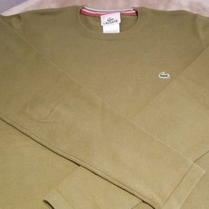 Lacoste olive green sweater